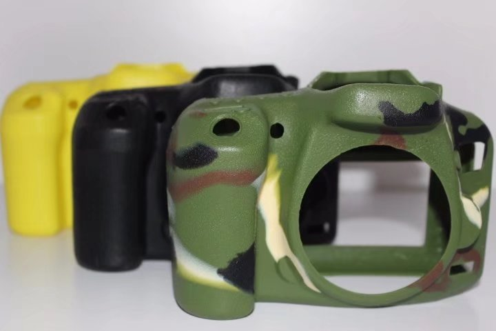 Nice Soft Silicone Rubber Camera Protective Body Cover Case Skin Camera Sling Strap For Canon 7D2 7D mark II Camera Bag