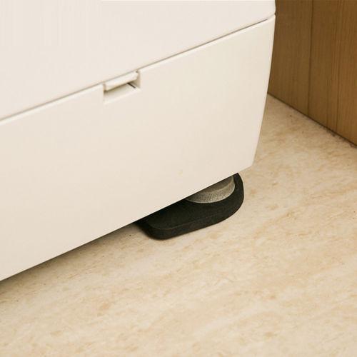 Black Washing Machine Pads Anti Noise Vibration Non Slip Walking Dryers 4Pcs Good protection for electrical appliances 2