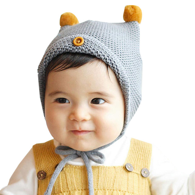 Tiga gaya Lucu Bayi Balita Anak Laki-laki Perempuan Kecil bola flanging  tombol Bola Bulu 809076d4ae