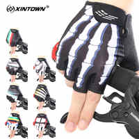 XINTOWN Half Finger Cycling Gloves Comfortable Men Women Gloves Breathable Polyester Cycling Quick-drying Outdoor Sport Gloves