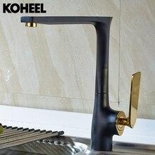 Смеситель для кухни черный Латунь горячей и холодной водопроводной воды кран-смеситель для мойки смеситель для умывальника 5 видов цветов смеситель для раковины высокое качество K-H05