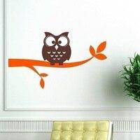 Owl On A Branch Vinyl Wall Decal Owl Wall Decals Children Baby Boy Girl Nursery 60