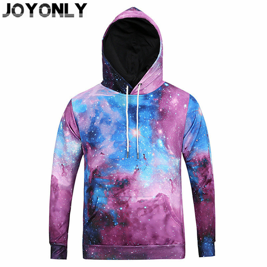 Joy Only New 2018 Men/Women Space Galaxy 3D Hooded Clothing Rainbow Unicorn Print Hoodies Fashion Pullover Sweatshirts Tops