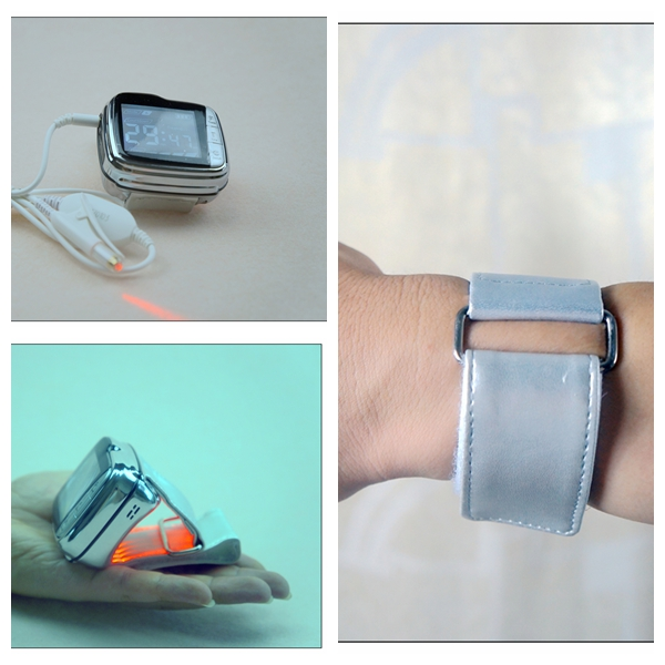 cardiovascular treatment 650nm laser light therapy device	to reduce high blood pressure apparatus laser light device reduce blood pressure wrist watch wrist type laser