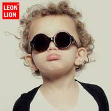 Leonlion 2021 новые круглые детские солнцезащитные очки карамельных