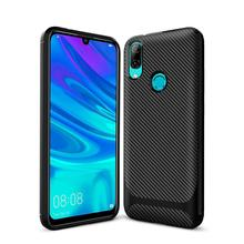 GKK Case For Huawei P Smart Z 2019 Soft TPU Reinforced Anti-shock Carbon Fiber Cover Coque Funda