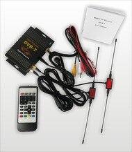 В автомобиле DVB-T MPEG-4 цифровой TU тюнер приемник для европейского автомобиля DVB-T цифровой ТВ коробка с 2 тюнером 2 антенны