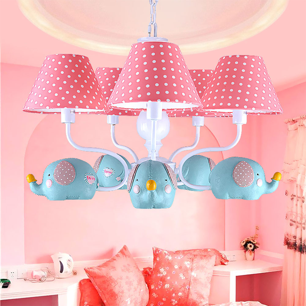 cartoon elephant pendant lighting luminarias children's room lamps boys and girls bedroom creative Led pendant lights hghomeart kids led pendant lights basketball academy lights cartoon children s room bedroom lamps lighting