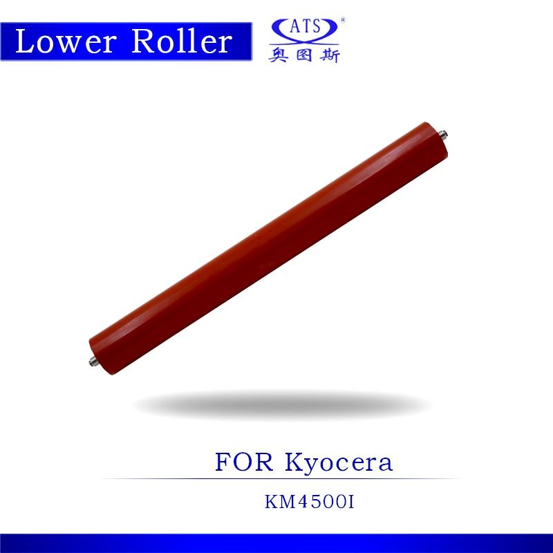 1PCS KM4500 KM4500I Photocopy Machine Lower Fuser Roller For KM 4500 4500I Pressure Roller Copier Parts 1pcs photocopy machine lower pressure fuser roller for canon ir2018 copier parts ir 2018