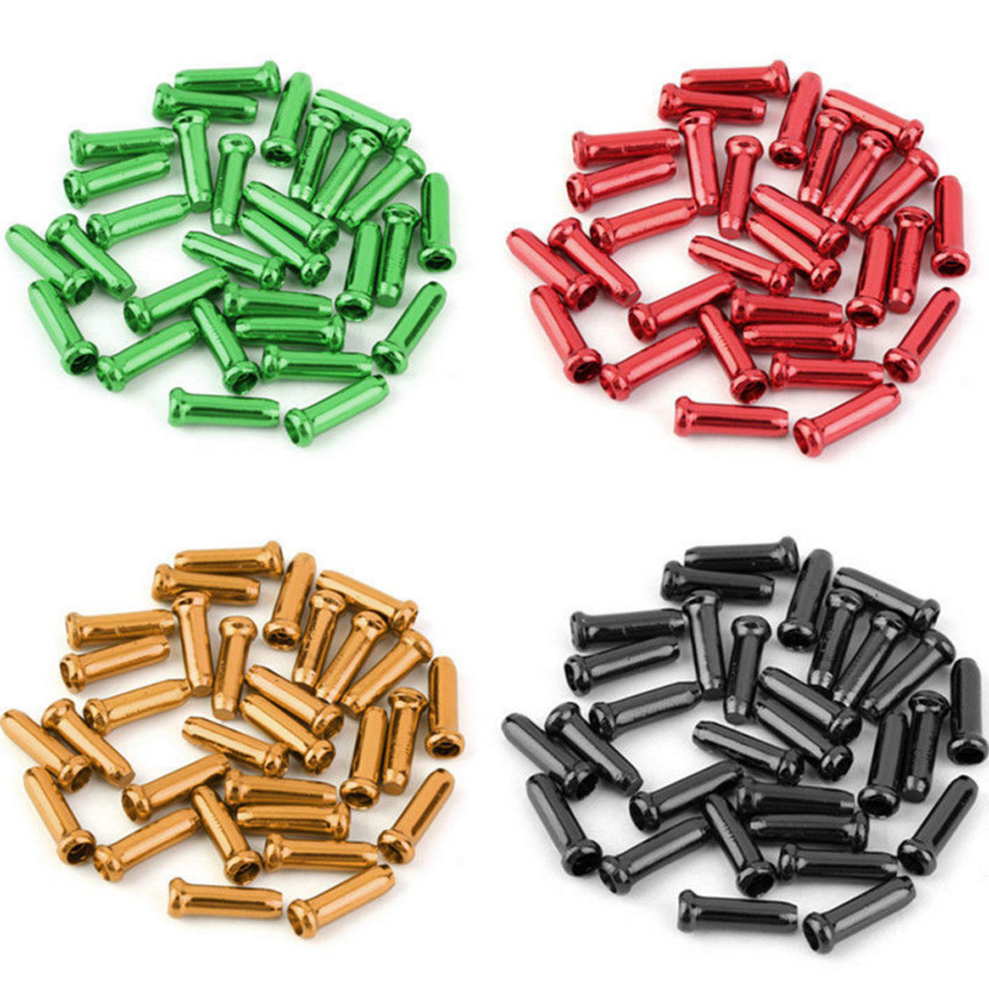 10 Pcs Aluminum Alloy Bike Bicycle Brake Cable Tips Crimps Bicycles Derailleur Shift End Caps Core