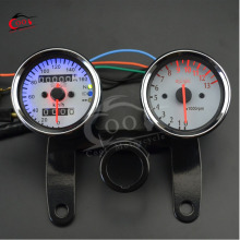 Universal LED Motorcycle Tachometer + Odometer Speedometer Gauge With Bracket