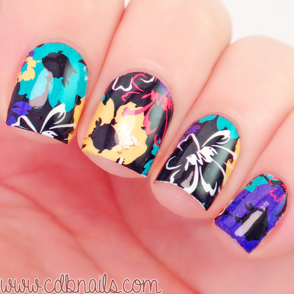 Nail Art Ideas nail art water decal : BORN PRETTY Flower Painting Nail Art Water Decals Transfer Sticker ...