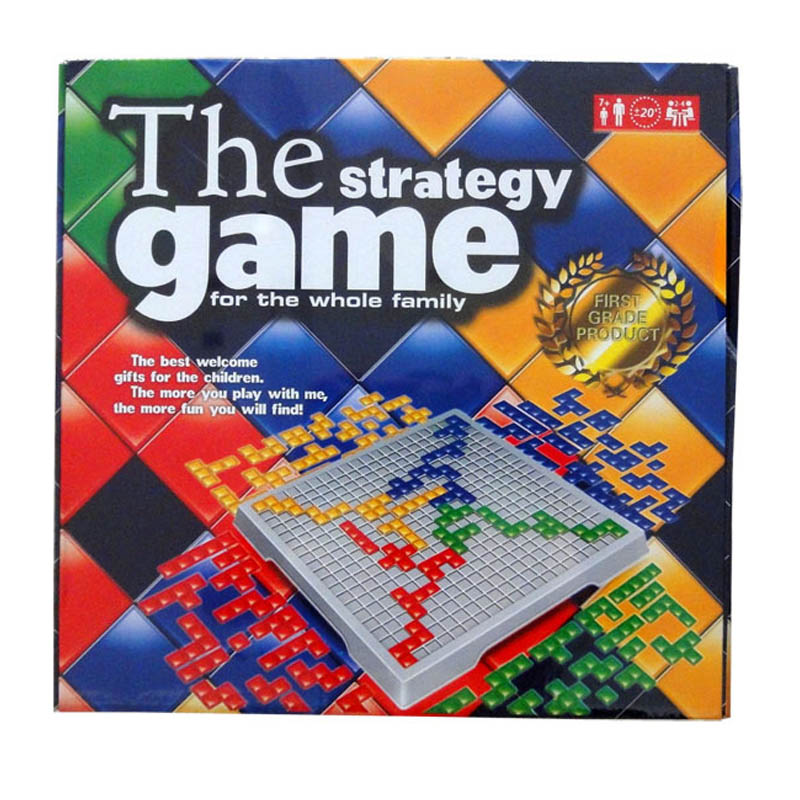 The Strategy Game Blokus Board Game Educational Toys Squares Game Easy To Play For Children Russian Box Series Indoor Games