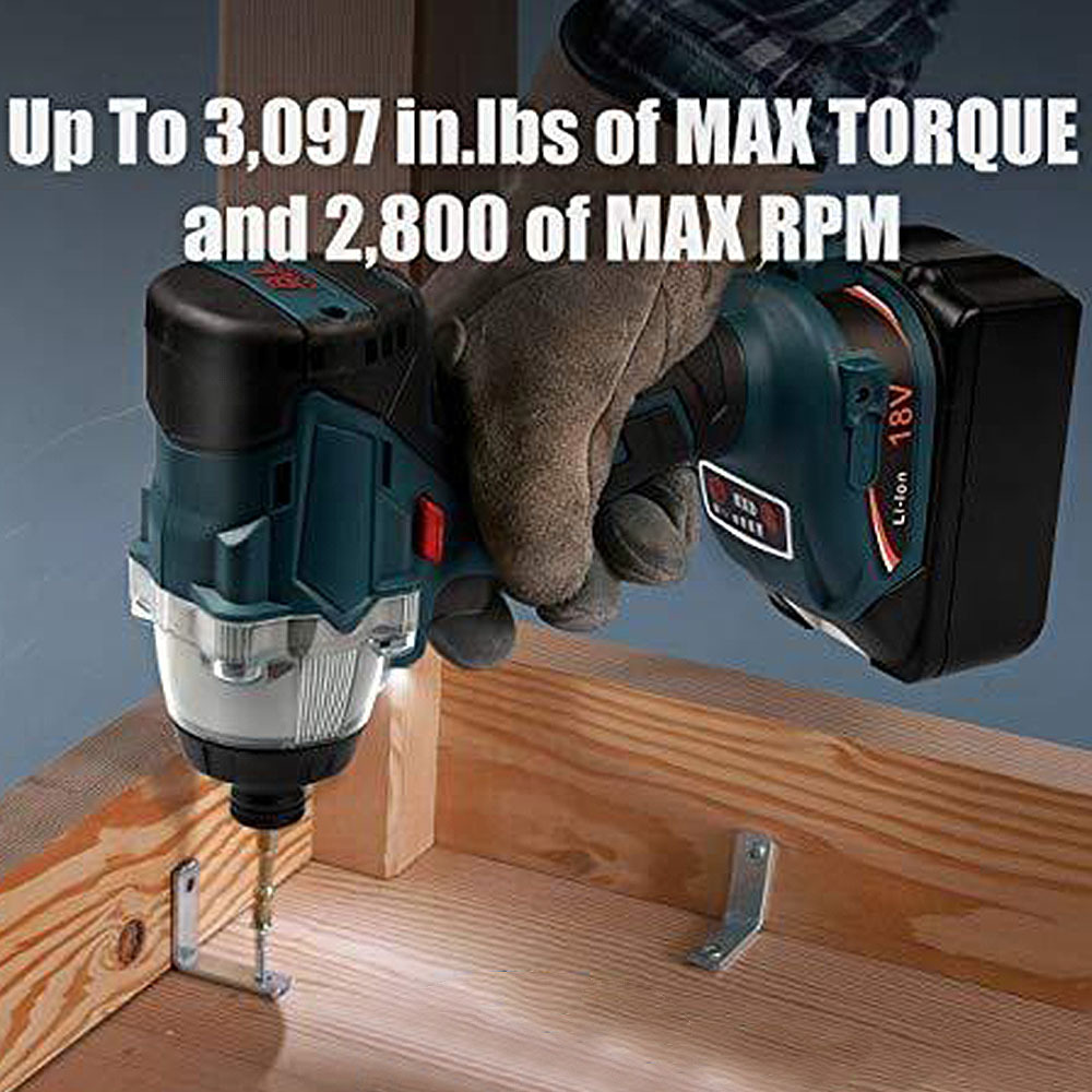 Image 4 - 18V Replacement Brushless 1/2 Inch Impact Wrench for Makita DTD152 DTD170 New 18V Impact Driver-in Electric Drills from Tools on