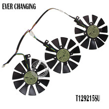 New 87MM Everflow T129215SU DC 12V 0.50AMP 4Pin 4 Wire Cooling Fan For ASUS GTX980Ti R9 390X 390 GTX1070 Graphics Card Fans(China)