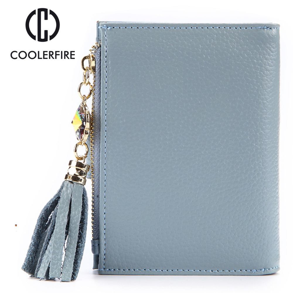 Hot Design Women's Wallet Genuine Leather Coin Bag Short Zipper High Quality Wallets for Female Small Cute Fashion Purse PJ010