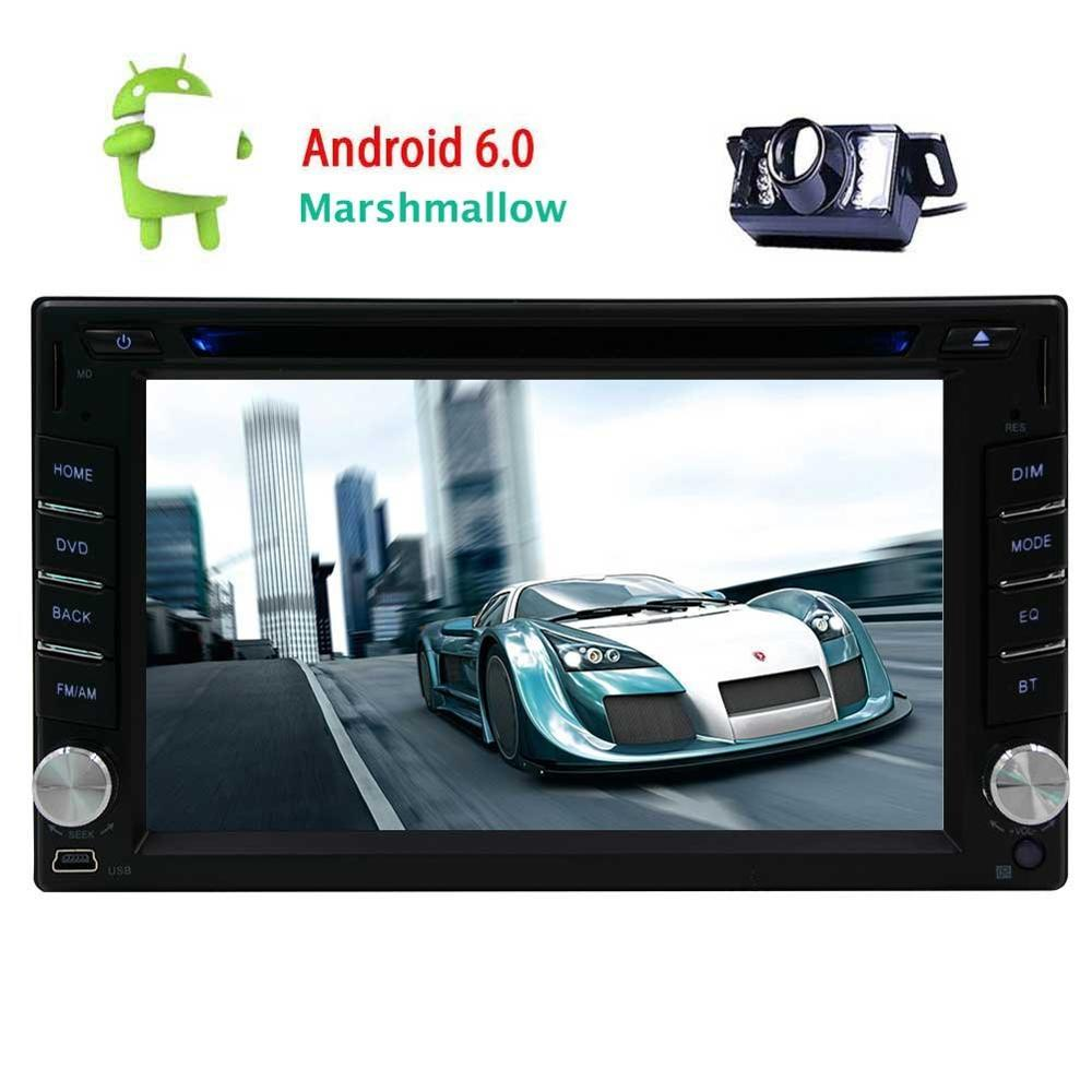<font><b>Android</b></font> 6.0 Car tape recorder gps Stereo Double 2 Din 6.2&#8221; Car DVD Player with GPS Navigation AM FM Radio Bluetooth/WiFi+Camera