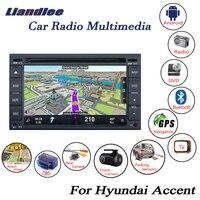 Liandlee для hyundai акцент MC 2005 ~ 2011 Android Navi навигация Карты автомобиля HD экран Media радио cd dvd плеер gps Камера OBD ТВ