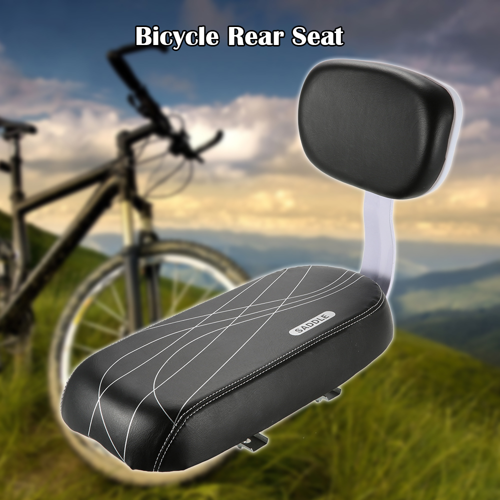 Bike Back Seat Accessories Set Child Kids Safety Bicycle Rear Seat Cushion Kit