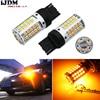 2 No Resistor No Hyper Flash 21W High Power Amber 7440 W21W T20 LED Bulbs