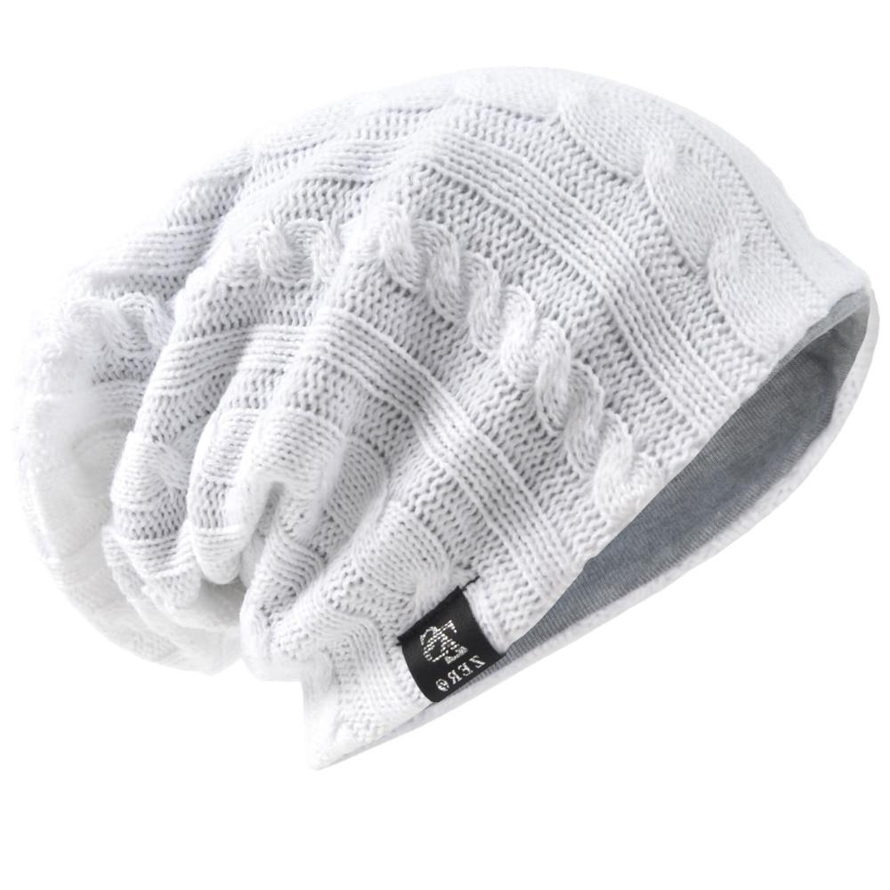 HISSHE Mens Classic Winter Slouchy Beanie Cap Unisex Knit Solid Skullies  Cap Long Baggy Daily Hat 3e004f8cb4b