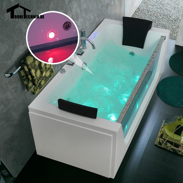 1700mm Air Massage Whirlpool Bath tub Shower spa freestanding ...