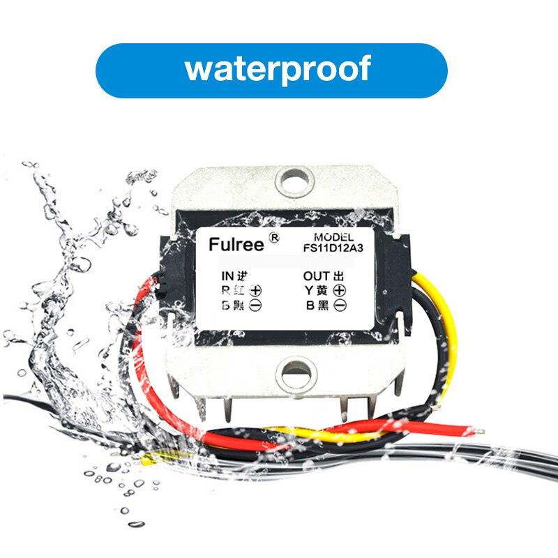 Power Supply DC/DC Boost Converter Waterproof Step-up Converter 5V 6V 7V 8V 9V 10V 11V to 12V for Car Module Voltage Regulator wholesale 1pcs dc dc step up converter boost 2a power supply module in 2v 24v to out 5v 28v adjustable regulator board dropship