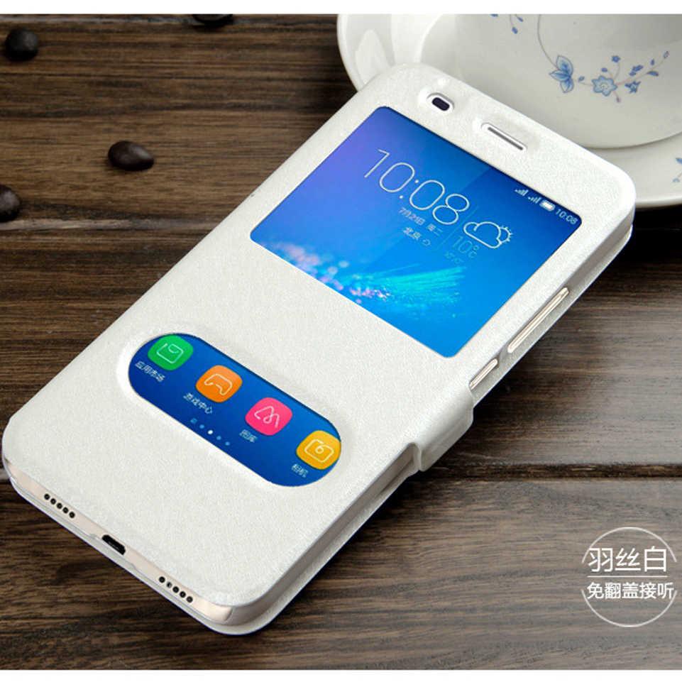 ل ينوفو k3 6000 6010 حالة ترف الجواب السريع عرض نافذة الوجه الحرير بو الجلود الحالات الهاتف لينوفو K30-T الليمون k3