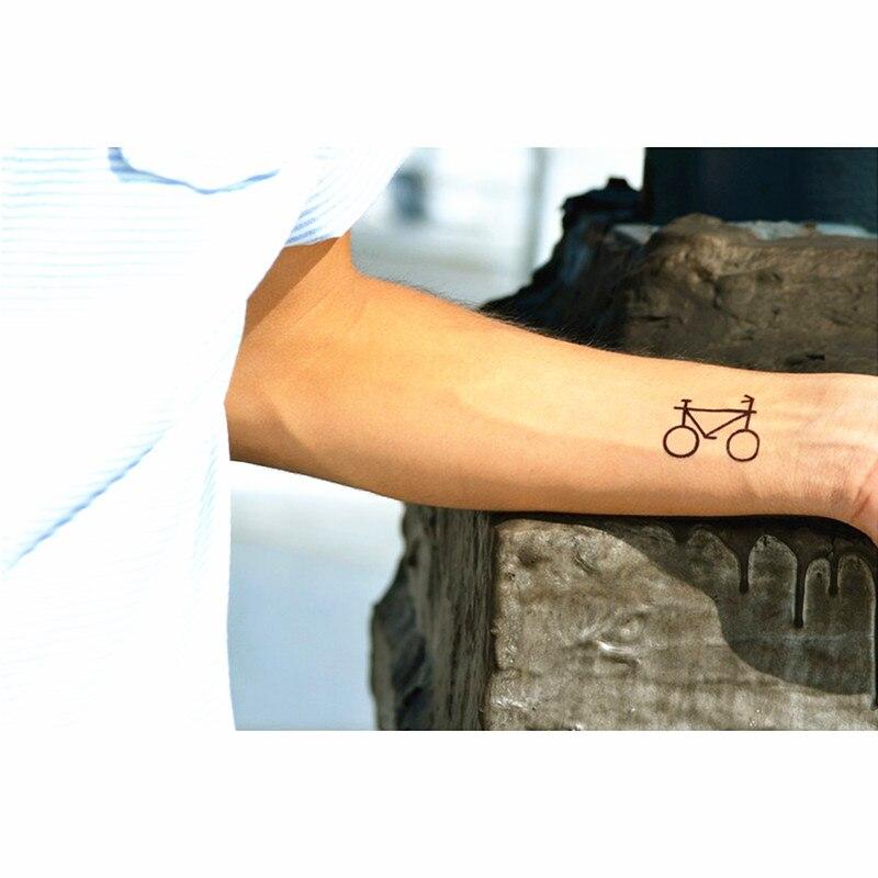 Us 043 22 Offshnapign Schöne Fahrrad Flash Tattoo Hand Aufkleber 1056 Cm Kleine Wasserdichte Henna Schönheit Temporäre Körper Kunst