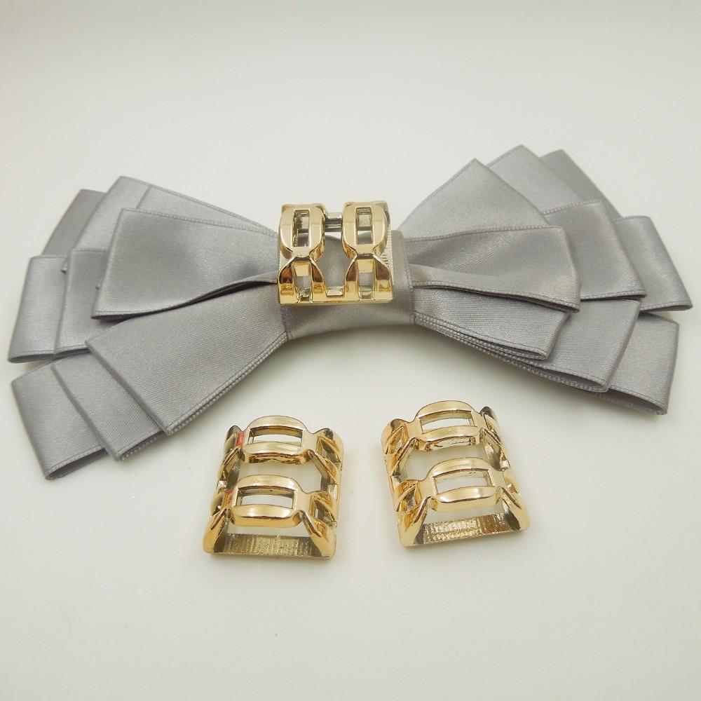 20/20/11mm,Hole Size 17mm,20pcs W uv plated rose gold no fade ribbon buckles acessories Ribbon Slider Headband Hair Clip DIY
