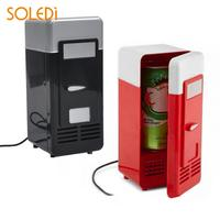Plastic 19.4 * 9 * 9CM Fruit Juice Water USB Mini Fridge Freezer Desktop Mini Refrigerator Applicable Soda Wine