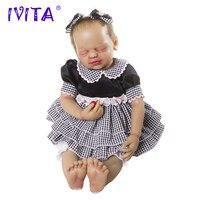 Ivita 22 дюйм(ов) силикона возрождается младенцев Реалистичная металлическая Скелет закрытым Средства ухода для Век Мягкая Реалистичного коре