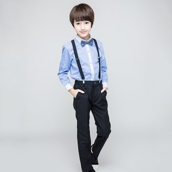 Formal Striped Boys Suit Jacket+Shirt+Pants+Vest Shool Boys Formal Holiday  Boutique Outfit 2019 Boys Clothes  RKS194018