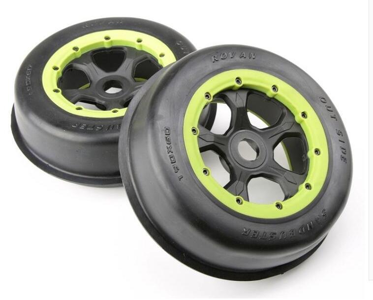 Baja 5T SC Front Wheel Desert Tire Assembly 95170 baja 5b ii front wheel off road tire assembly