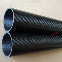 Free shiping 2pcs 30mm*27mm*1000mm 3K Matte CF Carbon Fiber Tube Pipe Twill 2pc for Quadcopter