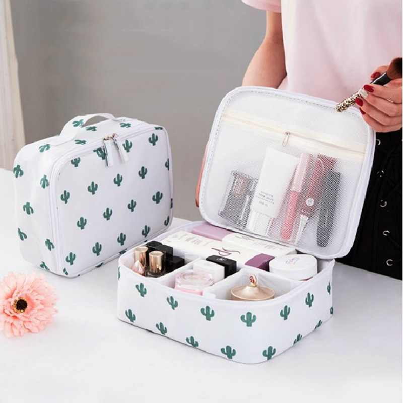 Hoomall  Zipper Travel Wash Pouch Toiletry Travel Storage Bag Mini Casual Portable Cosmetic Bag Waterproof Makeup Organizer