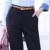 Gran Calidad de Las Mujeres traje de pantalones Flacos OL Office Lady Otoño Primavera negro lápiz pantalones Largos pantalones de Cintura alta Pantalones Femeninos