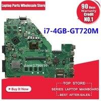 GT720M i7 Processor 4GB RAM X550CC motherboard REV2.0 for ASUS X552C X550CC X550CL Y581C Notebook motherboard X550CC motherboard