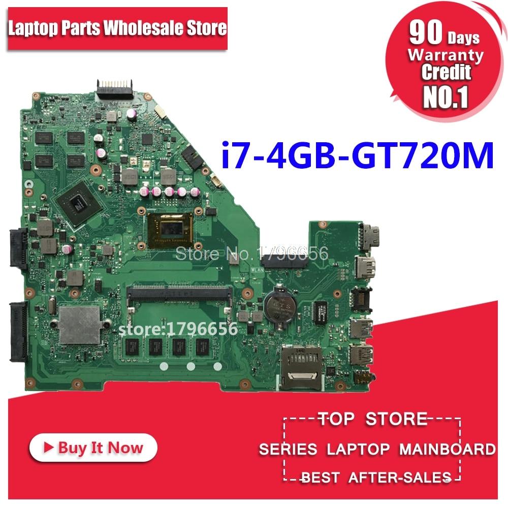 GT720M i7 Processor 4GB RAM X550CC motherboard REV2.0 for ASUS X552C X550CC X550CL Y581C Notebook motherboard X550CC motherboard цена
