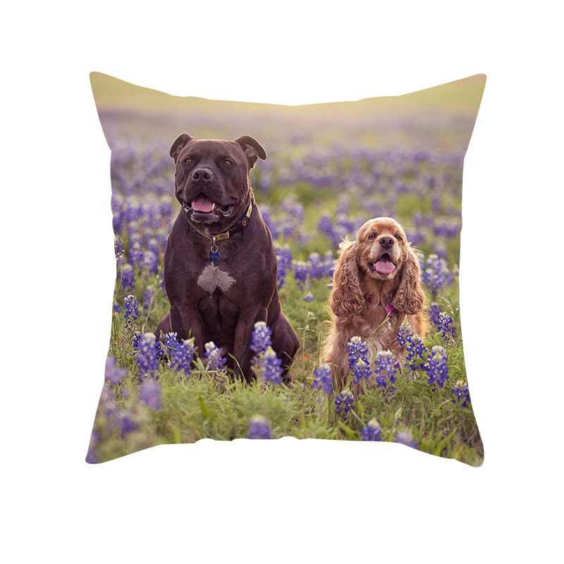 Fuwatacchi My lovely Pets Customized Cushion cover Pet Pictures Personalized Linen Pillowcase Your Design Picture Here Print in Cushion Cover from Home Garden