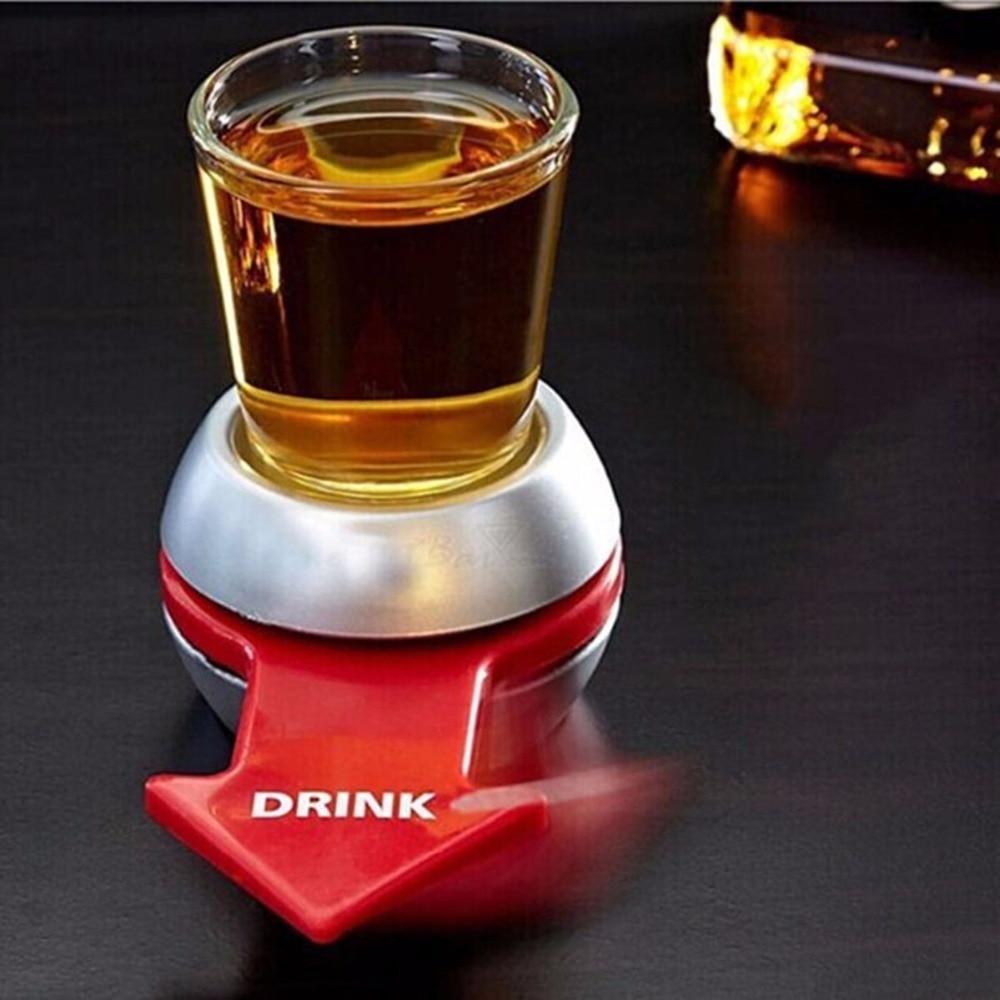 Plataforma de la ruleta juego de beber con rueda juegos de Bar girar el disparo juego de beber de vidrio girando fiesta broma Juguetes