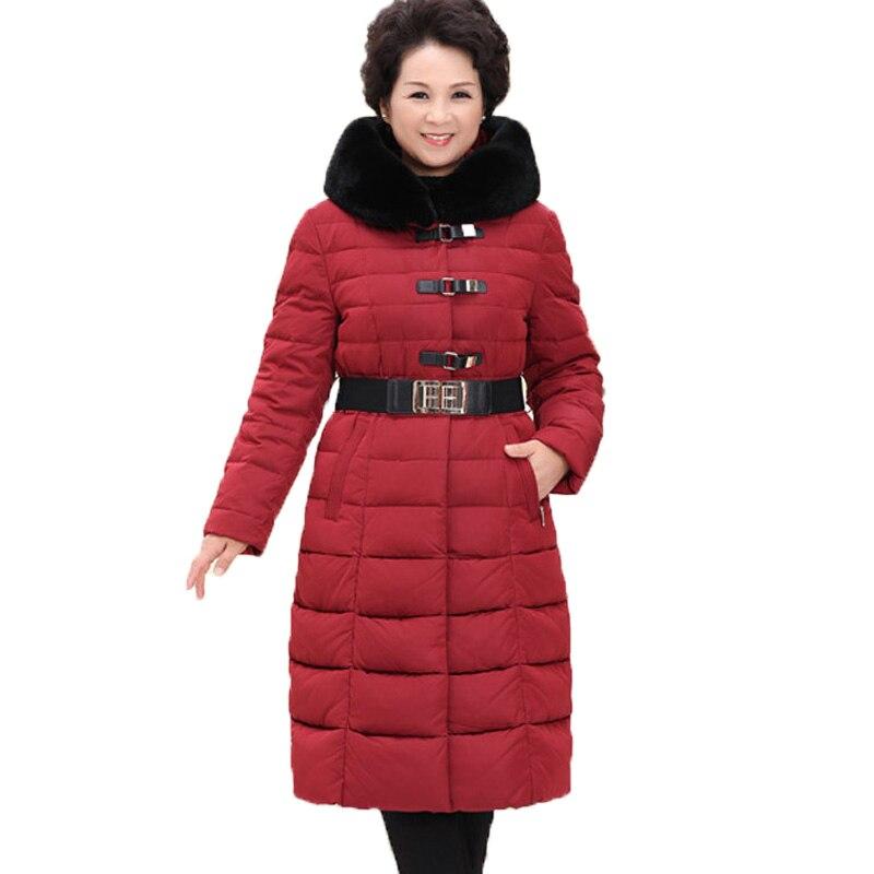 Winter Down Coat 2016 font b Women b font Long Slim Thickening Plus Size White Duck
