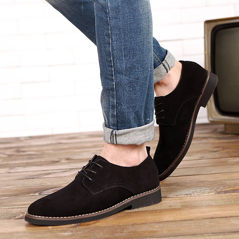 HTB1gfttd7yWBuNjy0Fpq6yssXXay - Suede Leather Oxford Men's Casual Shoes-Suede Leather Oxford Men's Casual Shoes