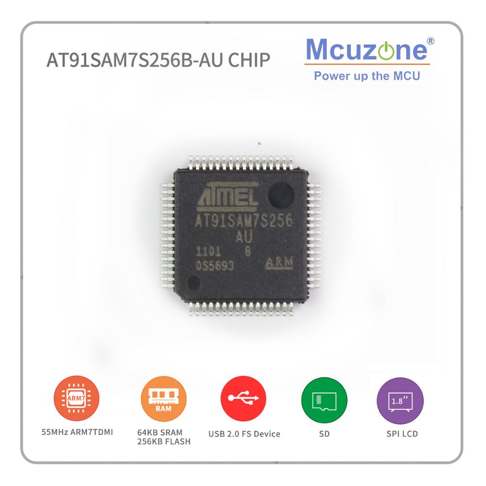 AT91SAM7S256 B-AU ATMEL ARM7 Chip SAM7S256 7S256 MICROCHIP AT91SAM