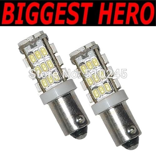 50x Free shipping Car Auto LED 42smd ba9S 42 led smd 3020 Wedge LED Light Bulb Lamp White