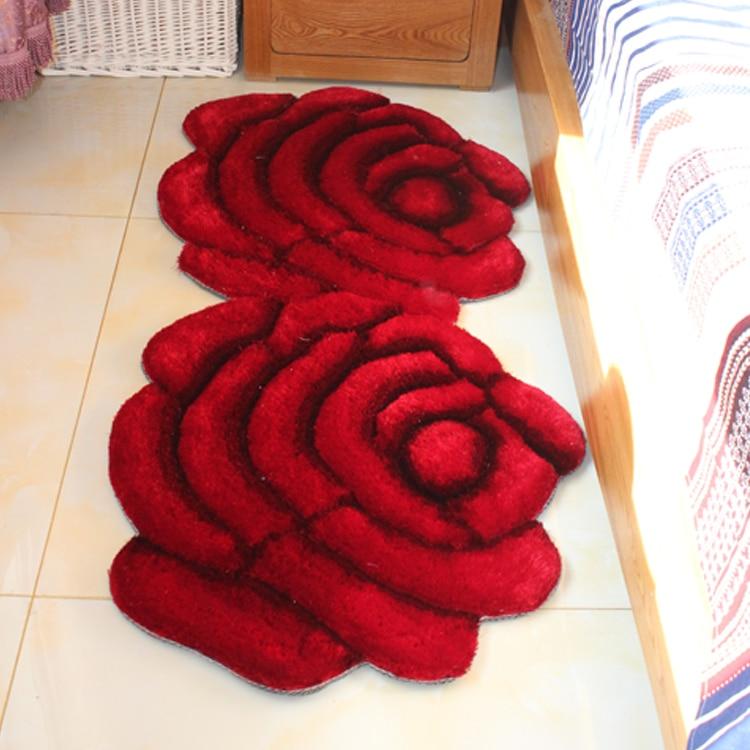 70X140 см, коврик с 3D рисунком, ковер, стерео, роза, двойной цветок, ковер в полоску, Южная Корея, проволочный ковёр для гостиной, спальни, ковер