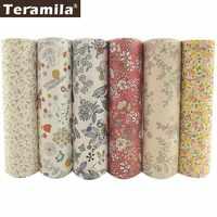 TERAMILA Telas 100% Tessuto di Cotone Stampato Fiore Fat Quarters Quilting Patchwork Bambola di Stoffa Da Cucire FAI DA TE 6 PCS/40 centimetri x 50 centimetri Tissu