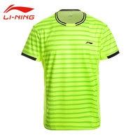 Li Ning Men S Professional Badminton T Shirts AT DRY Short Sleeves Breathable Tees Li Ning