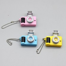 1pcs high quality fashion doll DIY camera doll accessories one machine LED car key ring camera pendant children classic toys(China)