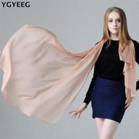 YGYEEG High Quality Thin 100 Real Silk Scarf Shawl Wrap Hijab Women Lady Fashion Long Scarves
